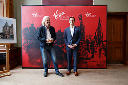 Sir Richard Branson (L) and Raul Leal, CEO Virgin Hotels (R) during the Virgin Hotels Groundbreaking event at India Buildings, Edinburgh. PRESS ASSOCIATION Photo. Issue date: Wednesday May 23, 2018. Photo credit should read: Robert Perry/PA Wire