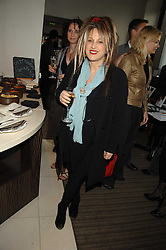 Fashion designer ELIZABETH EMANUEL at a party to celebrate the publication of Lisa B's book 'Lifestyle Essentials' held at the Cook Book Cafe, Intercontinental Hotel, Park Lane London on 10th April 2008.<br />