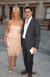 CEM & CAROLINE HABIB at the Royal Academy of Art's SUmmer Party following the official opening of the Summer Exhibition held at the Royal Academy of Art, Burlington House, Piccadilly, London W1 on 7th June 2006.<br /><br />NON EXCLUSIVE - WORLD RIGHTS