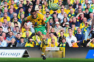 London - Saturday, April 17th 2010: Darel Russell of Norwich City scores the opening goal against Gillingham during the Coca Cola League One match at Carrow Road, Norwich..(Pic by Alex Broadway/Focus Images)