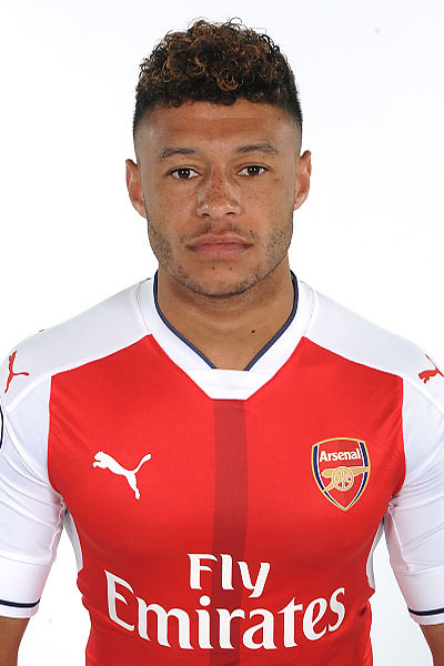 ST ALBANS, ENGLAND - AUGUST 03: (EXCLUSIVE COVERAGE)  Alex Oxlade-Chamberlain of Arsenal at the 1st team photocall at London Colney on August 3, 2016 in St Albans, England.  (Photo by Stuart MacFarlane/Arsenal FC via Getty Images)