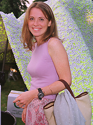 TV presenter DAISY DONOVAN, daughter of the late photographer Terence Donovan, at a party in London on 7th July 1999.MUC 56