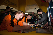 Autograph signing at the UCI BMX Supercross World Cup in Manchester, UK