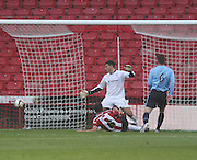 Chris Bashan puts Sheffield United 2-1 ahead - Sheffield United v Dundee, pre season friendly at Bramall Lane<br /> <br />  - &copy; David Young - www.davidyoungphoto.co.uk - email: davidyoungphoto@gmail.com
