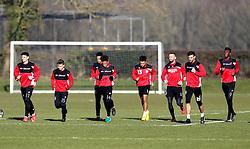 Bristol City players takes part in training - Mandatory by-line: Robbie Stephenson/JMP - 19/01/2017 - FOOTBALL - Bristol City Training Ground - Bristol, England - Bristol City Training