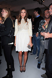 Dasha Zhukova  at a private view of Nicolas Pol's paintings entitled 'Mother of Pouacrus' held at The Dairy, Wakefield Street, London WC1 on 14th October 2010.