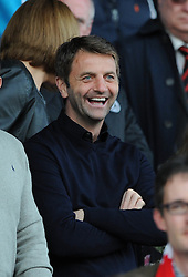 Aston Villa manager, Tim Sherwood in attendance at the County Ground  - Photo mandatory by-line: Dougie Allward/JMP - Mobile: 07966 386802 - 11/05/2015 - SPORT - Football - Swindon - County Ground - Swindon Town v Sheffield United - Sky Bet League One - Play-Off