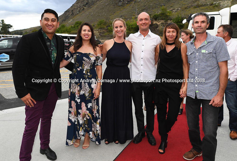 Guests arrive on the red carpet at the AJ Hackett bungy centre for the Par Tee.<br /> ISPS Handa New Zealand Golf Open. Arrowtown. New Zealand. Round 3, Saturday 3 March 2018. &copy; Copyright photo: Andrew Cornaga / www.photosport.nz