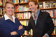 EMMANNUELLE LEPIC; GAEL CAMU, Alba Arikha  book launch for 'Soon' , Daunt's Holland Park.. London. 17 September 2013.