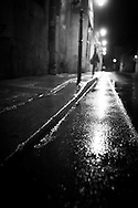 France. Paris , 4th district.. le Marais  , under the rain at night  / Paris sous la pluie, le marais  la nuit