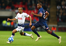 November 6, 2018 - London, England, United Kingdom - London, England - November 06, 2018.Tottenham Hotspur's Lucas.during Champion League Group B between Tottenham Hotspur and PSV Eindhoven at Wembley stadium , London, England on 06 Nov 2018. (Credit Image: © Action Foto Sport/NurPhoto via ZUMA Press)