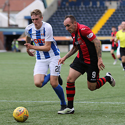 Mark Stewart  goes by Iain Wilson during the Kilmarnock v Dumbarton Betfred Cup Group E  29nd July 2017 <br /> <br /> <br /> <br /> <br /> (c) Andy Scott | SportPix.org.uk