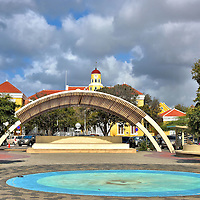 Wilhelmina Park in Punda, Eastside of Willemstad, Curaçao  <br />