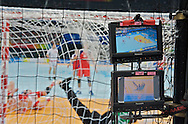 GOAL FOR POLAND IN THE TV DISPLAY DURING MATCH POLAND VS RUSSIA PLACEMENT 5-6 MATCH AT MEN'S HANDBALL OLYMPIC TOURNAMENT DURING THE BEIJING 2008 SUMMMER OLYMPIC GAMES IN BEIJING, CHINA.. .CHINA , BEIJING , AUGUST 24, 2008..( PHOTO BY ADAM NURKIEWICZ / MEDIASPORT )..PICTURE ALSO AVAIBLE IN RAW OR TIFF FORMAT ON SPECIAL REQUEST.