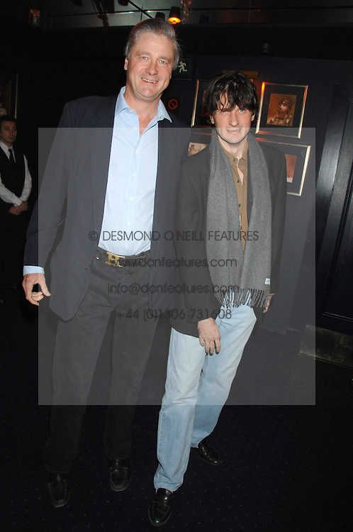 Left to right, brothers the MARQUESS OF WORCESTER and LORD JOHNSTON SOMERSET at a party to celebrate the publication of the 2007 Tatler Little Black Book held at Tramp, 40 Jermyn Street, London on 7th November 2007.<br /><br />NON EXCLUSIVE - WORLD RIGHTS
