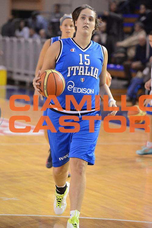 DESCRIZIONE : Parma Palaciti Nazionale Italia femminile Basket Parma<br /> GIOCATORE : Valentina Gatti<br /> CATEGORIA : curiosita <br /> SQUADRA : Italia femminile<br /> EVENTO : amichevole<br /> GARA : Italia femminile Basket Parma<br /> DATA : 13/11/2012<br /> SPORT : Pallacanestro <br /> AUTORE : Agenzia Ciamillo-Castoria/ GiulioCiamillo<br /> Galleria : Lega Basket A 2012-2013 <br /> Fotonotizia :  Parma Palaciti Nazionale Italia femminile Basket Parma<br /> Predefinita :