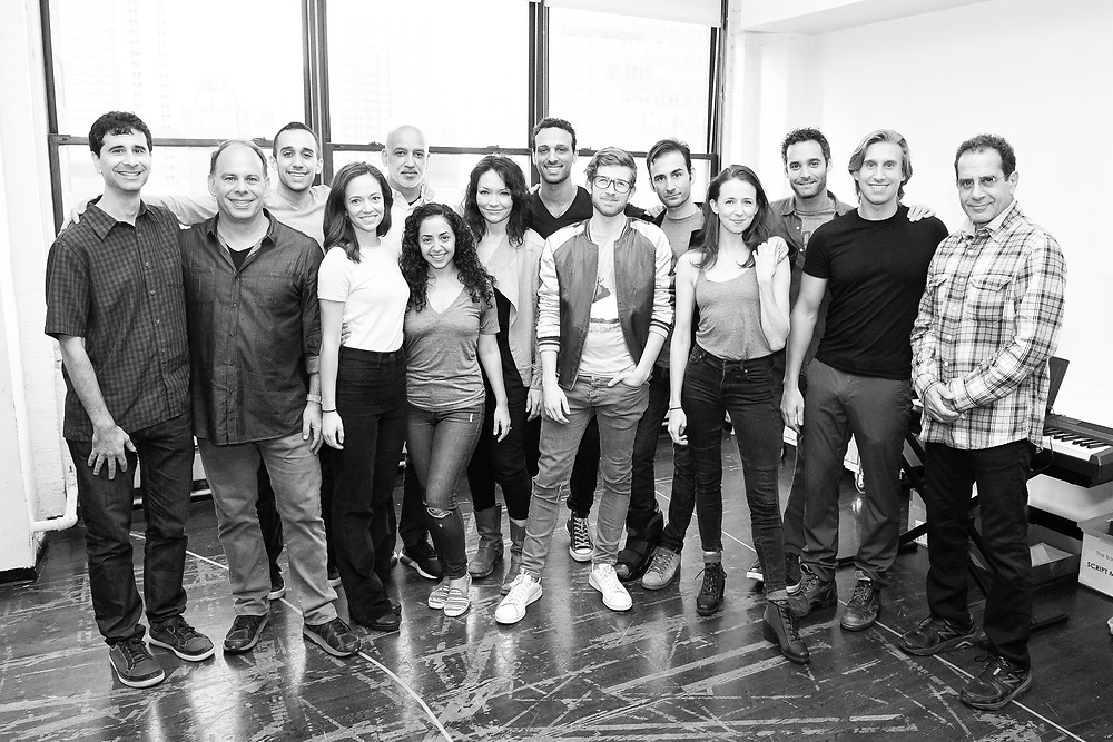 John Cariani, Andrew Polk, George Abud, Rachel Prather, Alok Tewari, Sharone Sayegh, Katrina Lenk, Ari'el Stachel, Daniel David Stewart, Erik Liberman, Kristen Sieh, Jonathan Raviv, Bill Army & Tony Shalhoub: The Band's Visit - Behind the scenes and Production photos from the original Atlantic Theater Company Off Broadway production
