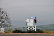 Route 77 near Nazareth, Galilee, Israel.