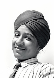 Sikh secondary schoolboy, Nottingham, UK 1990