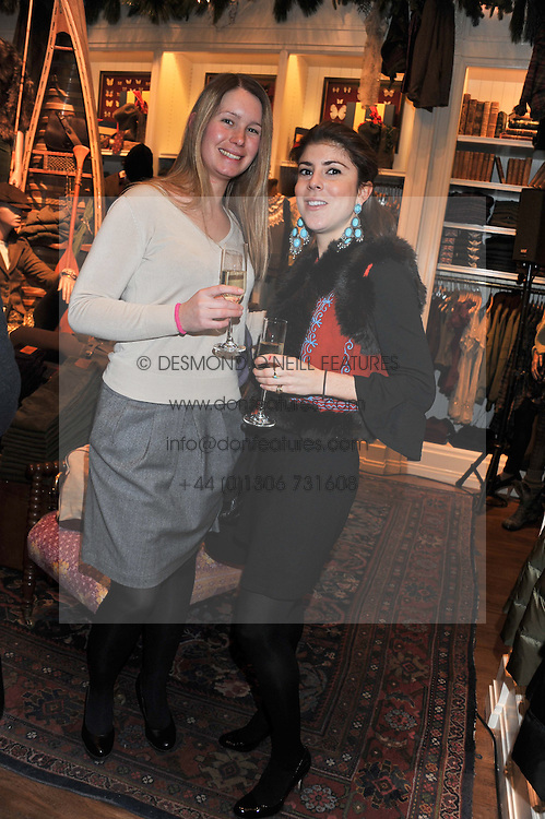 Left to right, JEN HUCKLE and LADY ROSE ALEXANDER at a party hosted by TLC to celebrate signing their 5000th member and Ralph Lauren to celebrate the opening of the first Ralph Lauren Rugby store in the UK at 43 King Street, Covent Garden, London on 30th November 2011.