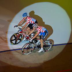 06-01-2012 WIELRENNEN: RABOBANK ZESDAAGSE: ROTTERDAM<br /> (L-R) Alex Rasmussen DEN, Nick Stopler<br /> (c)2012-FotoHoogendoorn.nl / Peter Schalk