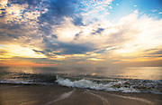 Sunrise, Atlantic Ocean, Clouds, Waves and Magic; I was thankful to be there. Fenwick Island, Delaware