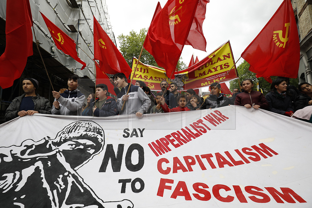 © Licensed to London News Pictures.01/05/2017. London, UK. Workers and activists take part in the May Day march to Trafalgar Square on May 1, 2017. Photo credit: Tom Nicholson/LNP