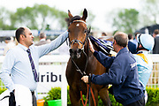 Irish Art ridden by Stevie Donohoe and trained by David Lanigan in the Empire Fighting Chance Handicap race.  - Ryan Hiscott/JMP - 24/05/2019 - PR - Bath Racecourse - Bath, England - Friday 24th May 2019 Race Meeting at Bath Racecourse