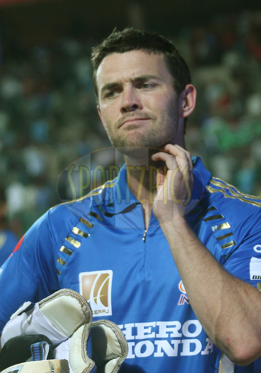 Dirk Nannes of Mumbai Indians after the match 8 of the the Indian Premier League ( IPL ) Season 4 between the Royal Challengers Bangalore and the Mumbai Indians held at the Chinnaswamy Stadium, Bangalore, Karnataka, India on the 12th April 2011..Photo by Vino John/BCCI/SPORTZPICS