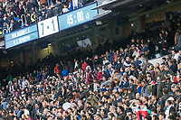 Scoreboard and Real Madrid supporters during La Liga match between Real Madrid and R. C. Deportivo at Santiago Bernabeu Stadium in Madrid, Spain. January 18, 2018. (ALTERPHOTOS/Borja B.Hojas)