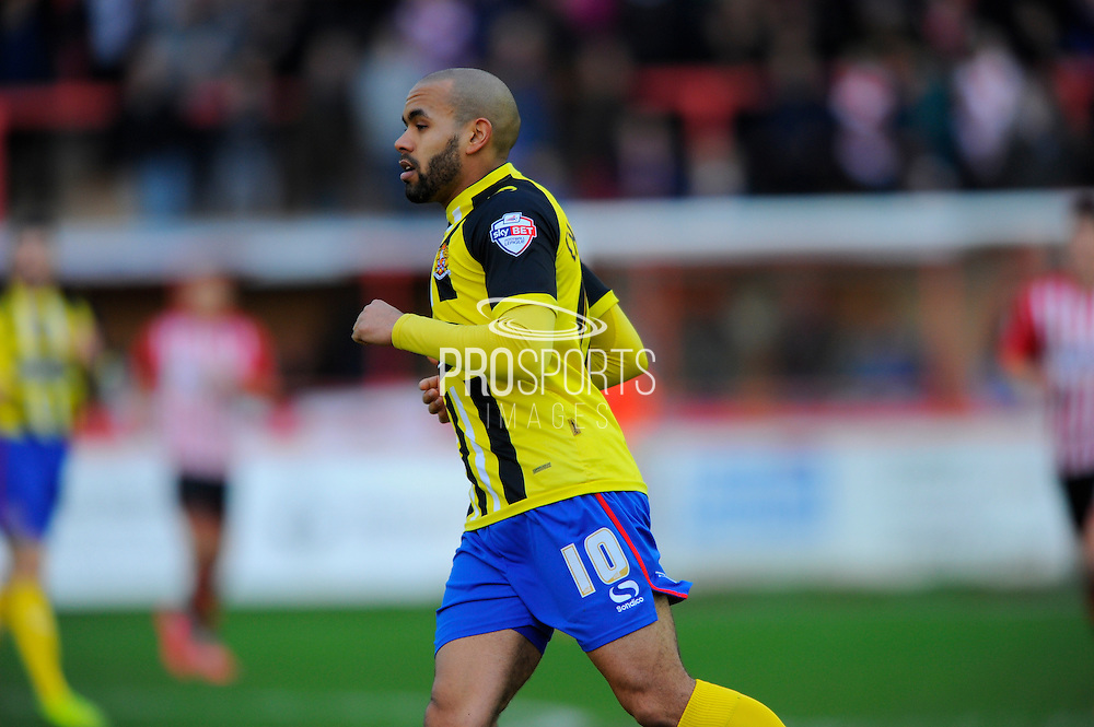 Dagenham & Redbridge's Ashley Chambers during the Sky Bet League 2 match between Exeter City and Dagenham and Redbridge at St James' Park, Exeter, England on 2 January 2016. Photo by Graham Hunt.