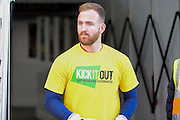 Bolton Wanderers goalkeeper Ben Alnwick (13) wears a kick it out t shirt during the EFL Sky Bet League 1 match between Northampton Town and Bolton Wanderers at Sixfields Stadium, Northampton, England on 26 November 2016. Photo by Dennis Goodwin.