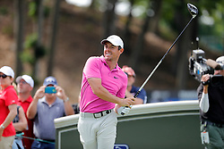 June 22, 2018 - Cromwell, CT, U.S. - CROMWELL, CT - JUNE 22: Rory McIlroy of Northern Ireland watches his drive on 18 during the Second Round of the Travelers Championship on June 22, 2018, at TPC River Highlands in Cromwell, Connecticut. (Photo by Fred Kfoury III/Icon Sportswire) (Credit Image: © Fred Kfoury Iii/Icon SMI via ZUMA Press)