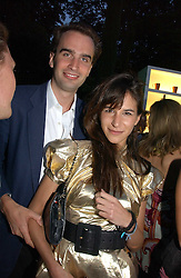 FRITZ VON WESTENHOLZ and CAROLINE SIEBER at the Quintessentially Summer Party held at Debenham House, 8 Addison Road, London W14 on 15th June 2006.<br />