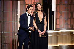 Jan 8, 2017 - Beverly Hills, California, U.S - MILO VENTIMIGLIA and MANDY MOORE at the 74th Annual Golden Globe Awards at the Beverly Hilton in Beverly Hills, CA on Sunday, January 8, 2017. (Credit Image: ? HFPA/ZUMAPRESS.com)