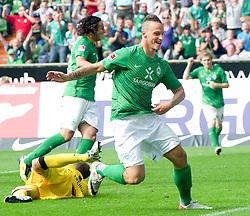 20.08.2011, Weser Stadion, Bremen, GER, 1.FBL, Werder Bremen vs SC Freiburg, im Bild.3:2 Marko Arnautovic (Bremen #7).// during the Match GER, 1.FBL, Werder Bremen vs SC Freiburg on 2011/08/20,  Weser Stadion, Bremen, Germany..EXPA Pictures © 2011, PhotoCredit: EXPA/ nph/  Kokenge       ****** out of GER / CRO  / BEL ******