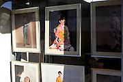 window display of local photography studio and store Yokosuka Japan