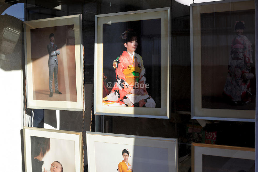 window display of local photography studio and store Yokosuka Japan