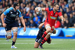 Jon Fisher of Bristol Rugby (R) in action - Mandatory by-line: Ian Smith/JMP - 20/08/2016 - RUGBY - BT Sport Cardiff Arms Park - Cardiff, Wales - Cardiff Blues v Bristol Rugby - Pre-season friendly