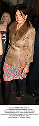Designer EMMA HOPE at a party in London on 12th February 2004.PRO 23
