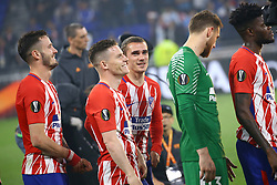 May 16, 2018 - Lyon, France - Olympique de Marseille v Atletico de Madrid - Uefa Europa League Final.Antoine Griezmann of Atletico during the award ceremony at Groupama Stadium in Lyon, France on May 16, 2018. (Credit Image: © Matteo Ciambelli/NurPhoto via ZUMA Press)