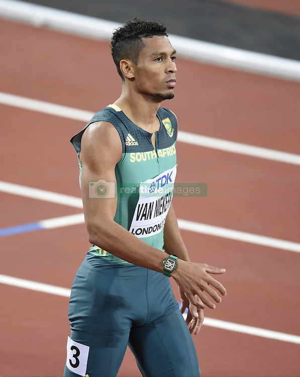 August 10, 2017 - Londres, Angleterre - LONDON , UNITED KINGDOM  - AUGUST 10 :  Wayde Van Niekerk during 200 m final at the16th IAAF World Athletics championships from august 4 till 13, 2017 in London ,United Kingdom, 09/08/2017 (Credit Image: © Panoramic via ZUMA Press)