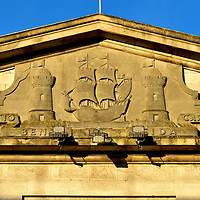 City Coat of Arm Relief on Custom House in Cork, Ireland <br />