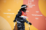 PYEONGCHANG-GUN, SOUTH KOREA - FEBRUARY 17: Mathilde Gremaud of Switzerland during the Womens Slopestyle Freestyle Skiing on day eight of the PyeongChang 2018 Winter Olympic Games at Phoenix Snow Park on February 17, 2018 in Pyeongchang-gun, South Korea. Photo by Nils Petter Nilsson/Ombrello               ***BETALBILD***