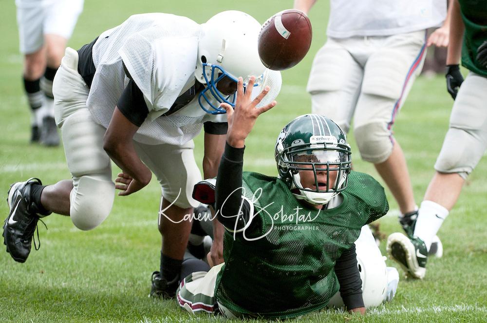 Holderness Football scrimmage against New Hampton School September 15, 2010.