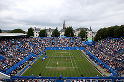A general view of Ladies' Doubles Final between Australia's Ashleigh Barty and Casey Dellacqua and Chinese Taipei's Hao-ching Chan and Switzerland's Martina Hingis during day nine of the AEGON International at Devonshire Park, Eastbourne.