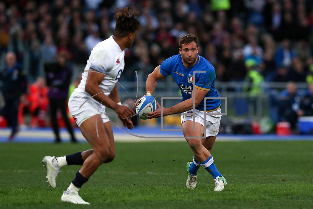 Roma 04/02/2018 Stadio Olimpico<br /> Natwest 6 nations Italia vs Inghilterra<br /> Tommaso Benvenuti