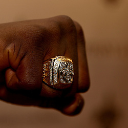 June 16, 2010; New Orleans, LA, USA;  A close up of a New Orleans Saints Super Bowl championship ring, the team received their rings during a ring ceremony at the Roosevelt Hotel.   Mandatory Credit: Derick E. Hingle