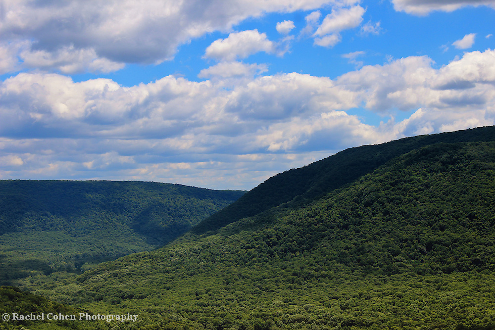 &quot;Highland Peace and Serenity&quot;<br /> <br /> Scenic Laurel Highlands in Ohiopyle PA.<br /> <br /> Beautiful mountains and valleys on a lovely summer day!!<br /> <br /> Landscapes by Rachel Cohen