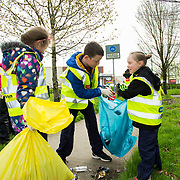 04.04.2017         <br /> St. Brigids National School, Singland Limerick were off the mark early for TLC3. <br /> Pictured during the clean up were, Conor Marnell and Maddison O'Neill. Picture: Alan Place